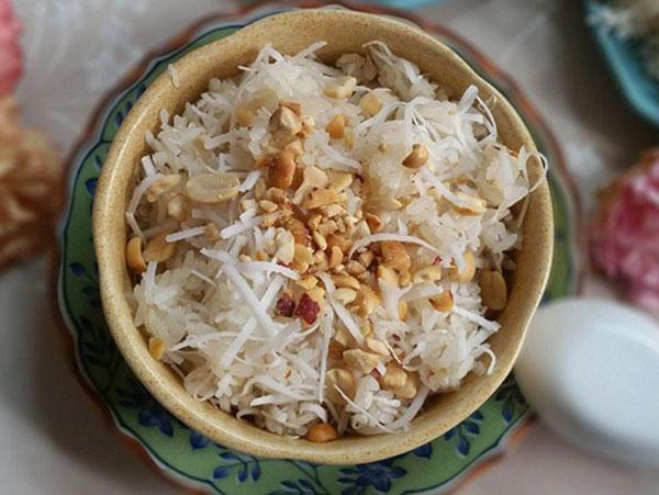 Cách nấu xôi dừa kiểu mới ngọt thơm bữa sáng đầu tuần